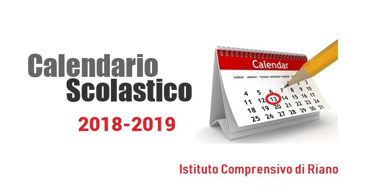 Calendario Regionale Scuola.Calendario Scolastico 2018 2019 Istituto Comprensivo Di Riano